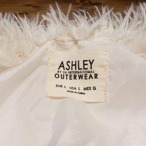 26 International Jackets & Coats - Ashley by 26 International White Faux Fur Jacket L